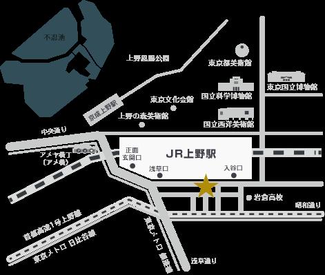 ホテルリソル上野 周辺マップ